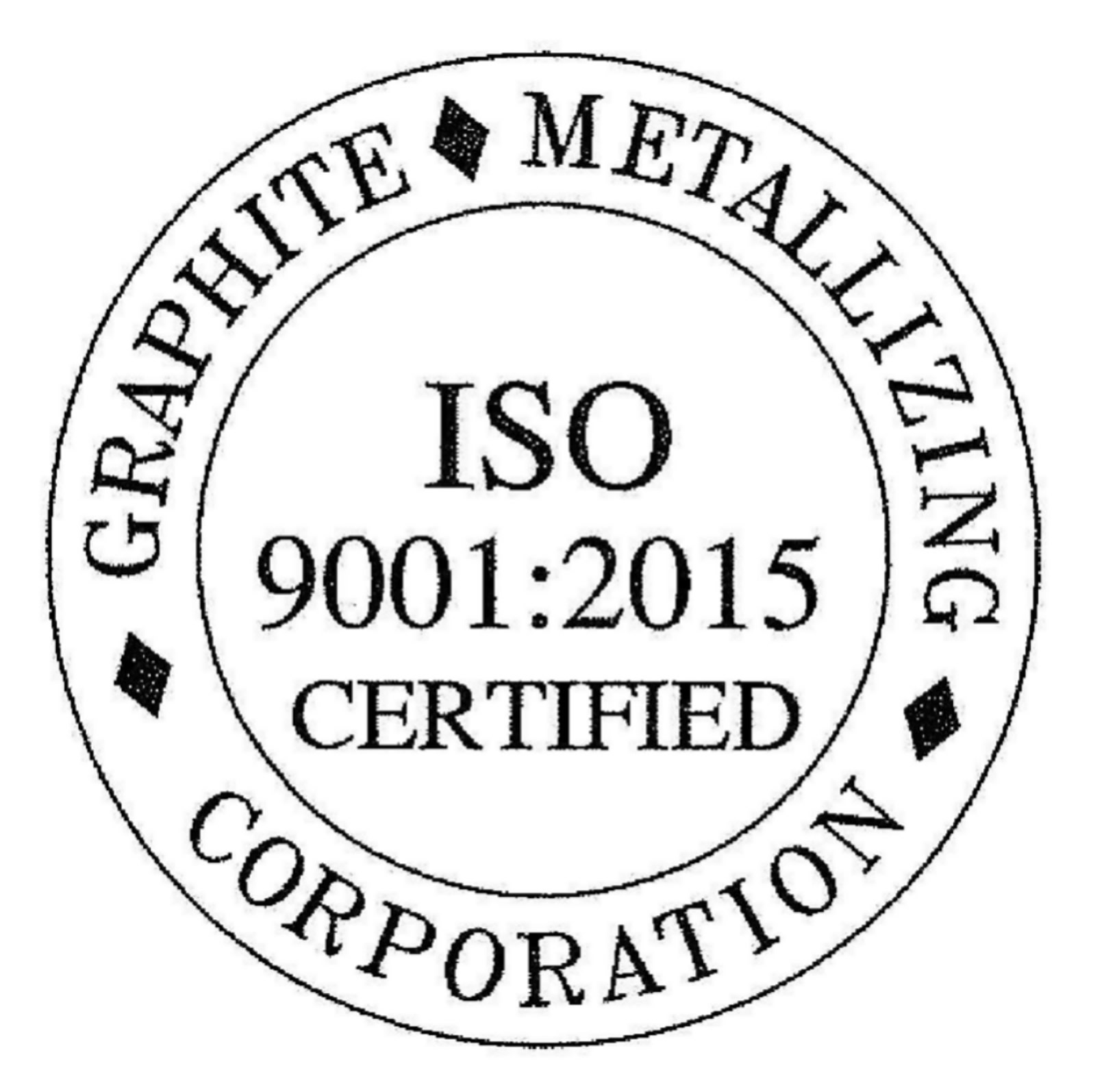 GRAPHALLOY ISO certfication